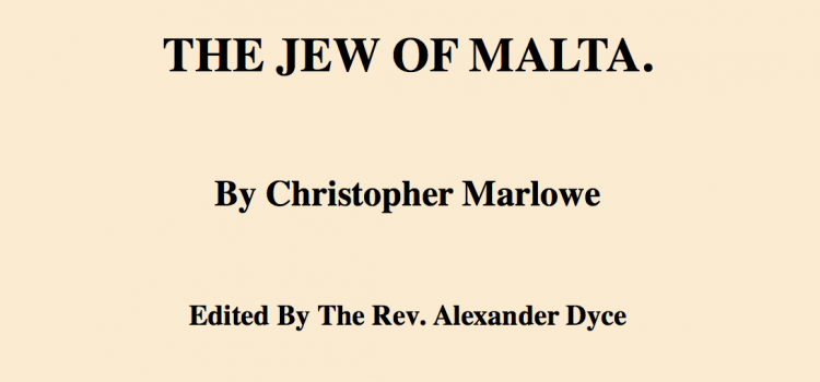 The Jew of Malta, Project Gutenberg (1850)