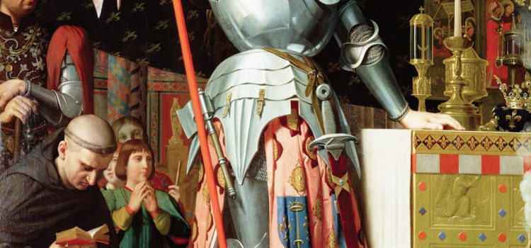 Image of Joan of Arc at coronation of Charles VII of France