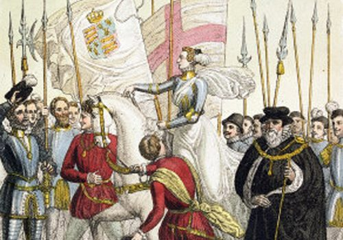 Queen Elizabeth I meets the troops at Tilbury