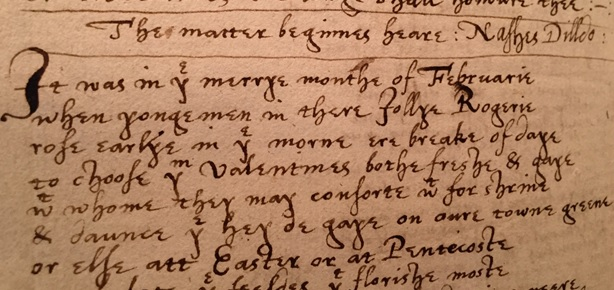 Photograph 17th C Commonplace Book