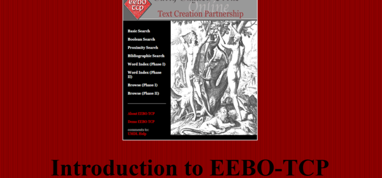 EEBO-TCP screenshot